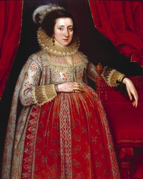 Portrait of a Woman in Red 1620 by Marcus Gheeraerts II 1561 or 2-1636
