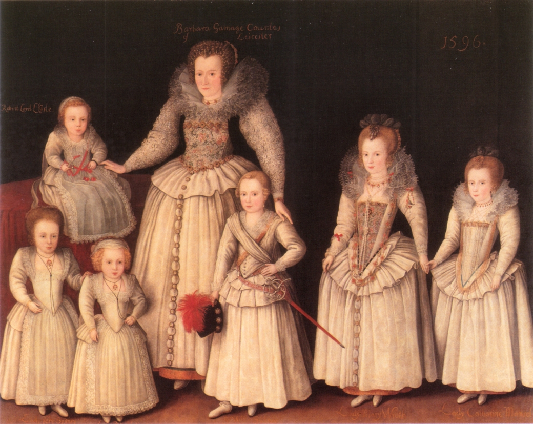 Gheeraerts_Barbara_Gamage_with_Six_Children